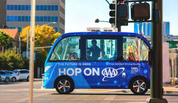 В центре Лас-Вегаса запущен первый автономный шаттл