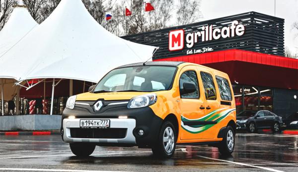 Renault Kangoo Z. E. на открытии новой зарядной станции