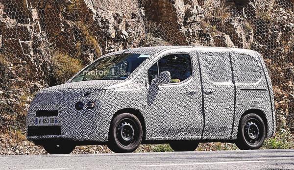 Новые Citroen Berlingo и Peugeot Partner замечены на дороге