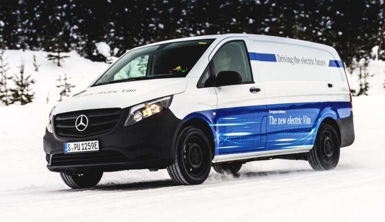Электрический Mercedes-Benz eVito: испытания фургона в 30-градусный мороз (видео)