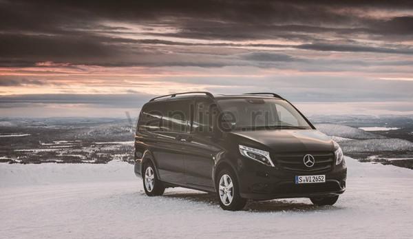 «Mercedes-Benz Vito 4x4» преодолевает лёд и снег