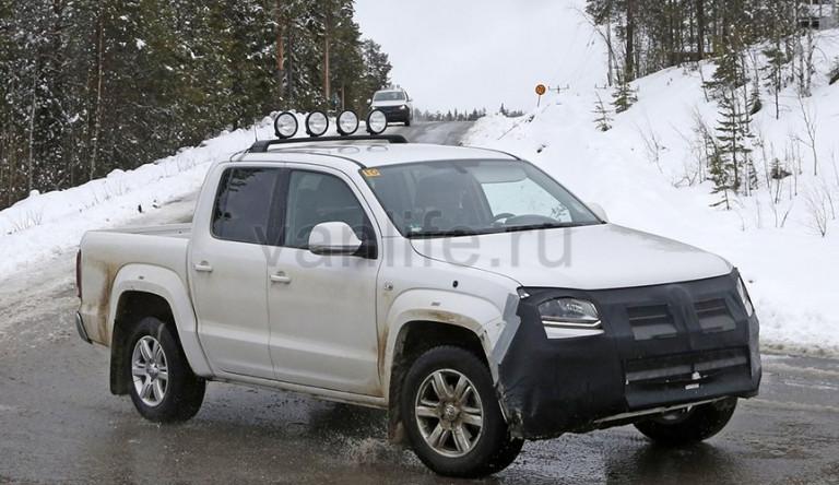 На дорогах был запечатлен обновлённый Volkswagen Amarok