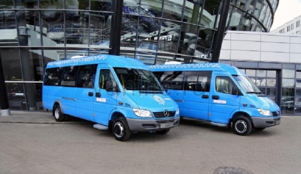 На дорогах столицы появятся новые синие маршрутки Mercedes-Benz Sprinter