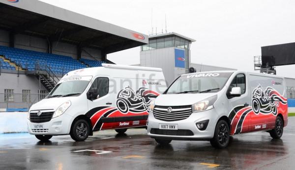 Компания Vauxhall представила спецверсии фургонов для перевозки мотоциклов