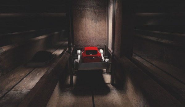 Новая разработка Tesla: лифт для автомобилей