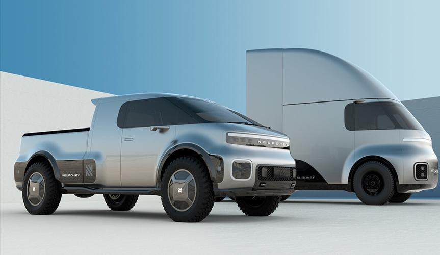 Стартап Neuron разработал необычные электрические микроавтобус и грузовик