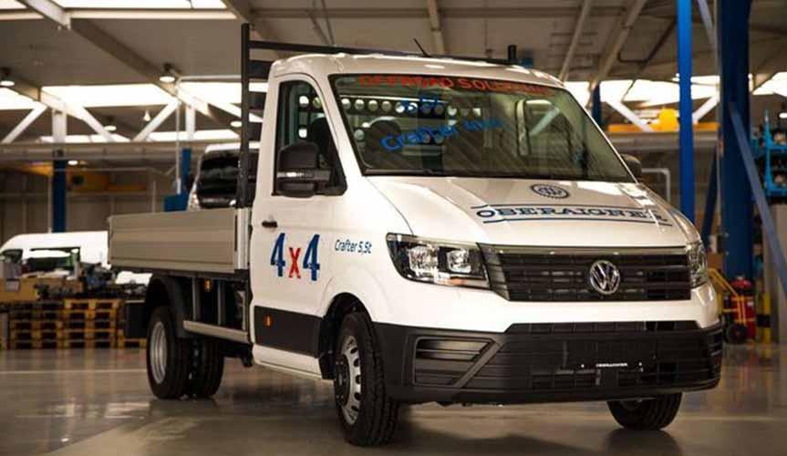 Volkswagen Crafter получил пакет 4х4 от Oberaigner