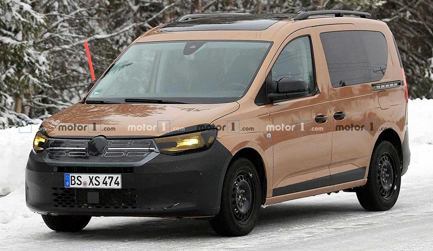 В сети появились шпионские фото обновлённого Volkswagen Caddy