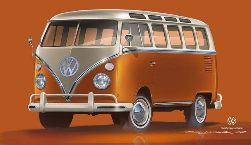 Volkswagen Коммерческие автомобили представит электрический Samba Bus