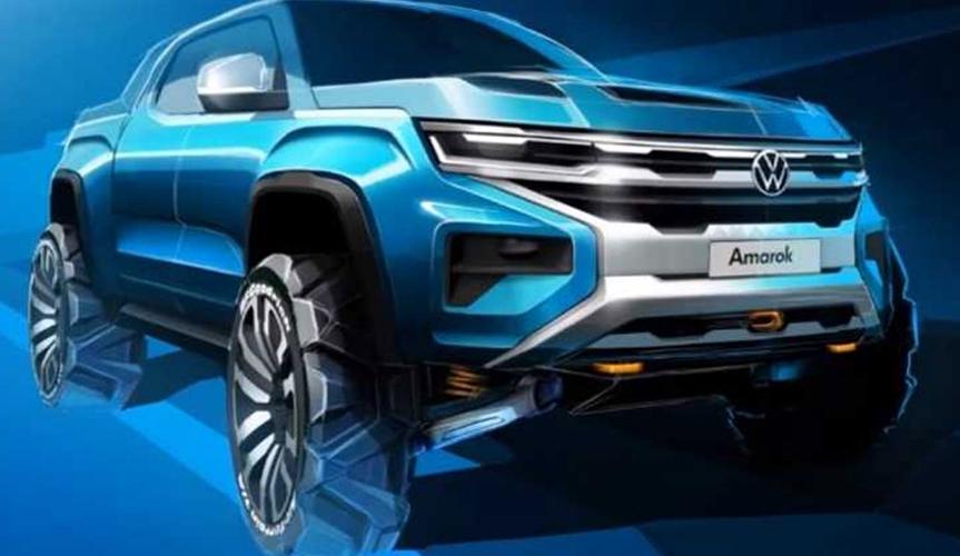 Как будет выглядеть пикап Volkswagen Amarok нового поколения