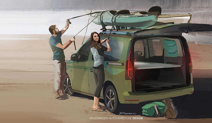 На базе Volkswagen Caddy сделают компактный дом на колёсах