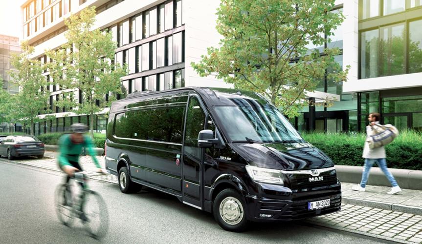 MAN представил новый туристический микроавтобус TGE Coach