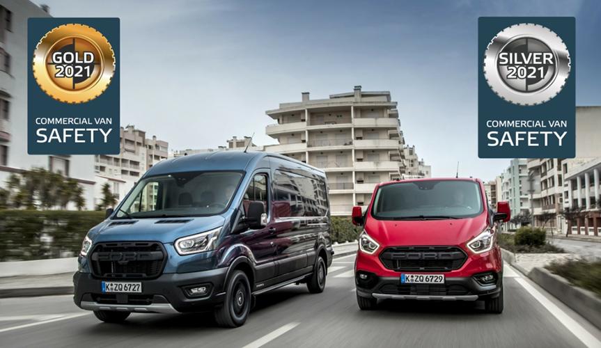 Ford Transit и Transit Custom получили награды от Euro NCAP