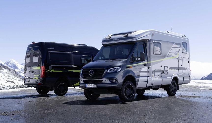 Компания Hymer представила внедорожные кемперы CrossOver RV и Camper Van