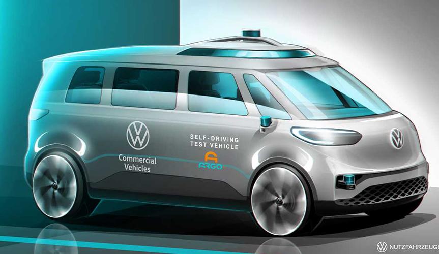 Volkswagen представил свой первый автономный фургон