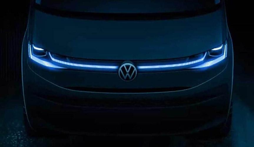 Volkswagen опубликовал тизер нового Multivan