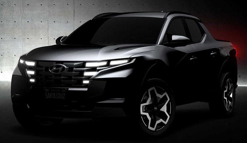 Hyundai опубликовал фотографии нового пикапа Santa Cruz