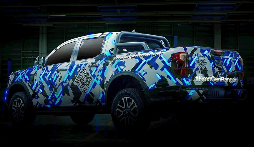 Новый пикап Ford Ranger «одели» в гоночный камуфляж