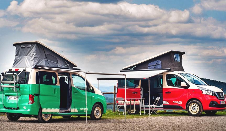 Компания Nissan представила новые кемперы на базе фургонов e-NV200 и NV300