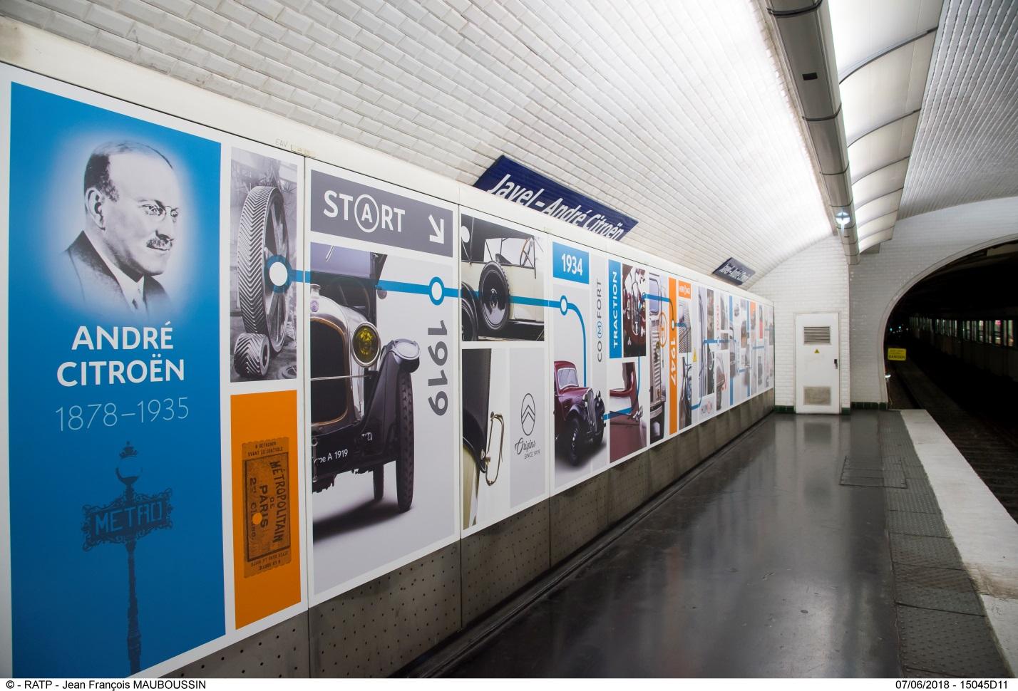Citroën представляет новую экспозицию на станции метро «Жавель — Андре Ситроен»