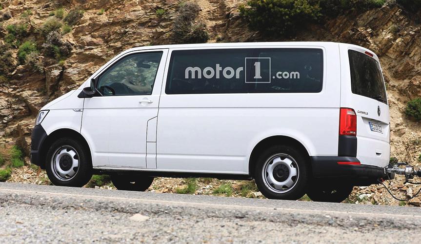 В сети появились снимки обновлённого фургона Volkswagen Transporter T7