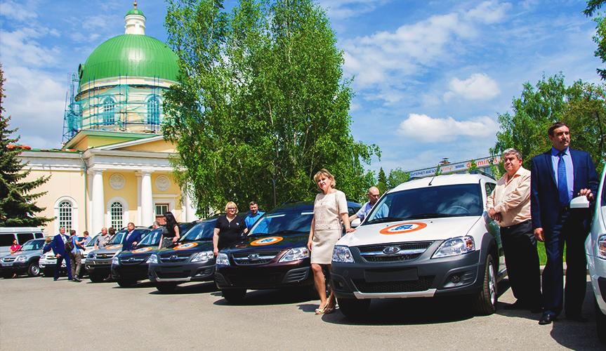 Социальным службам Омской области вручили новые автомобили LADA Largus