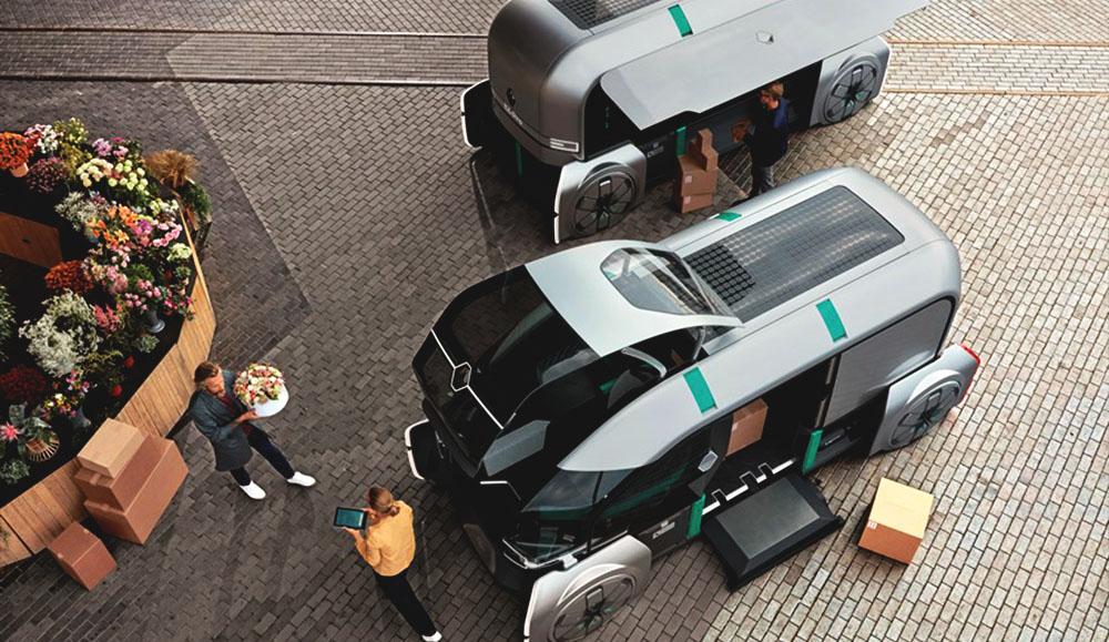 Автономный концепт для служб доставки Renault EZ-PRO