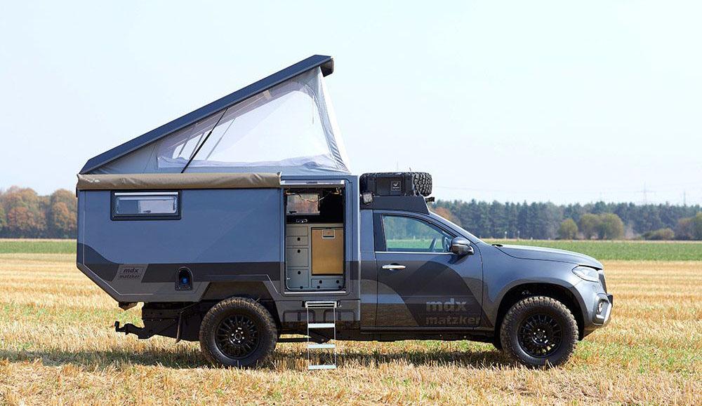 На базе пикапа Mercedes-Benz X-Class сделали компактный дом на колёсах