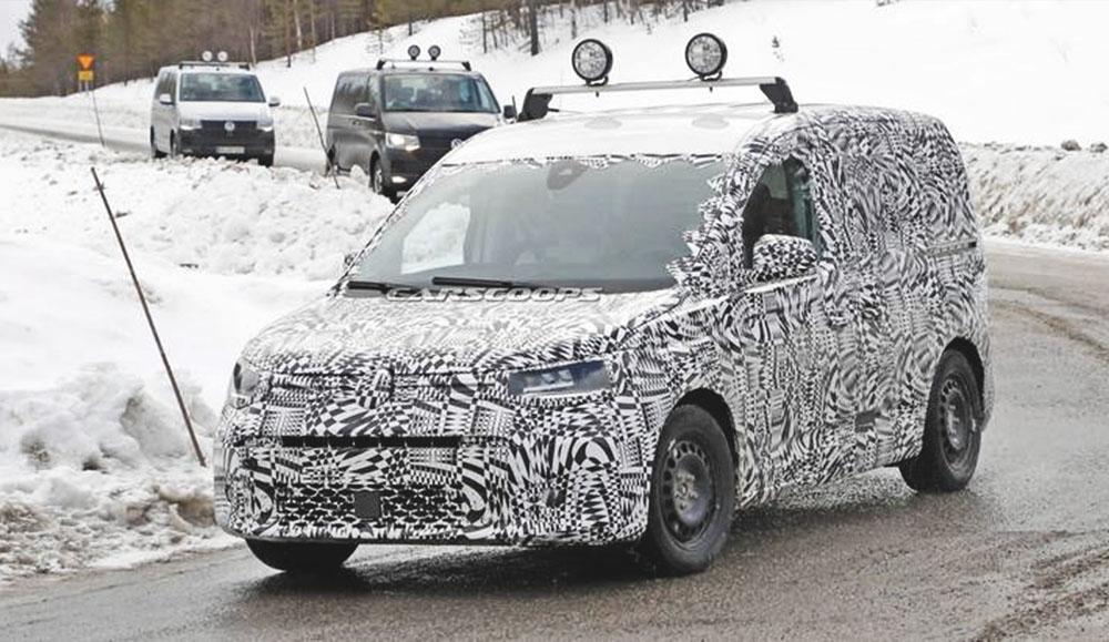 В сеть попали шпионские фото обновлённого Volkswagen Caddy