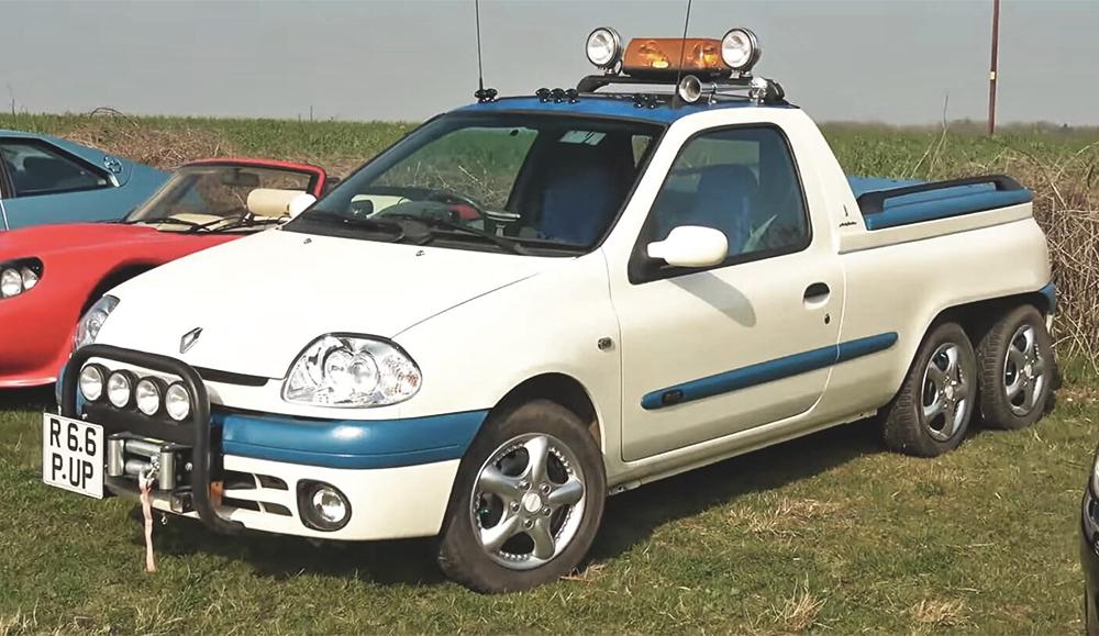 Из Renault Clio сделали 6-колёсный пикап