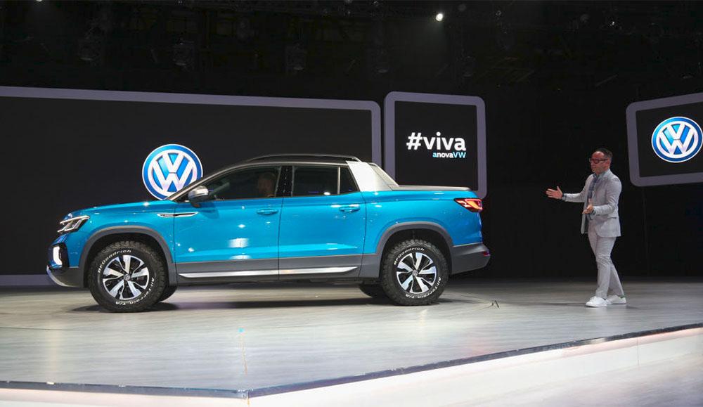 На автосалоне в Нью-Йорке представили новый пикап Volkswagen Tarok