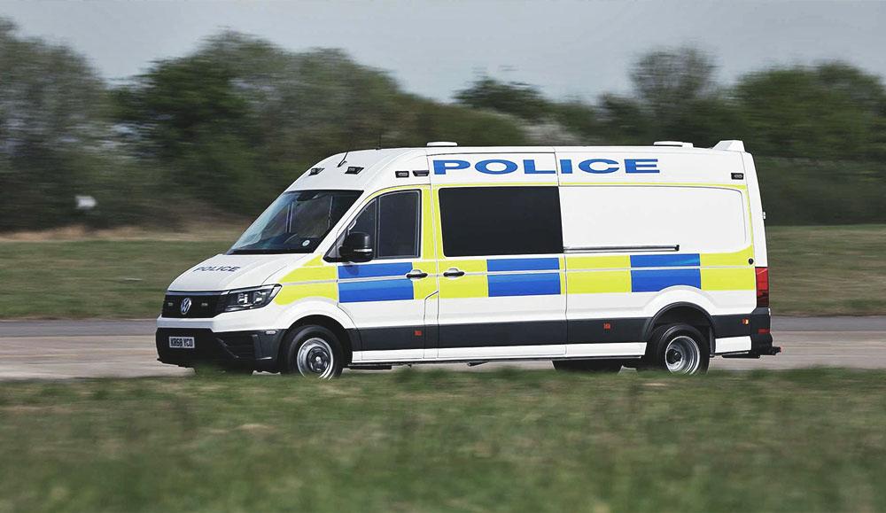 Volkswagen создал спецверсию фургона Crafter для полиции