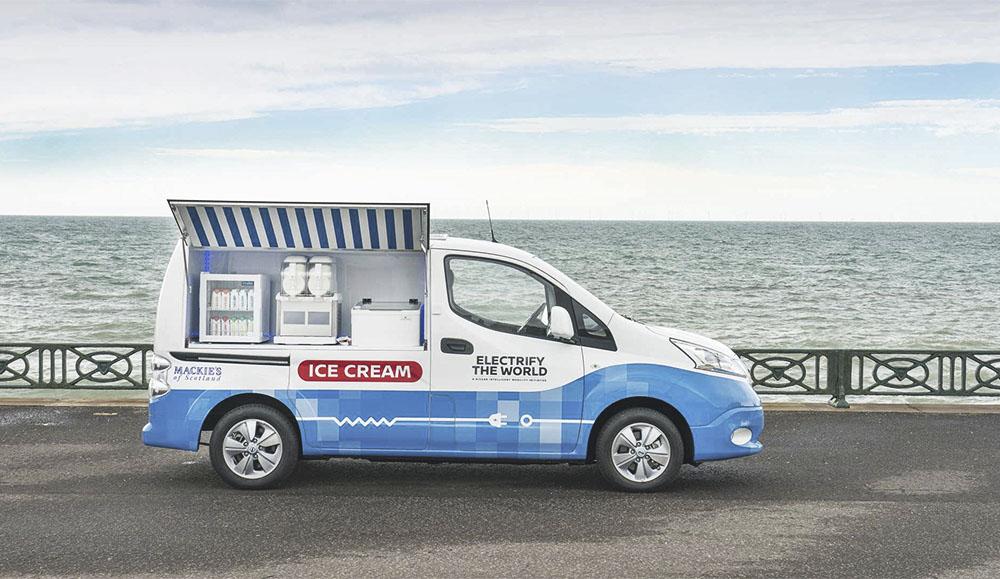 На базе Nissan e-NV200 сделали фургон с мороженым