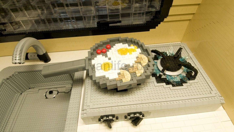 Жилой автоприцеп из конструктора Lego