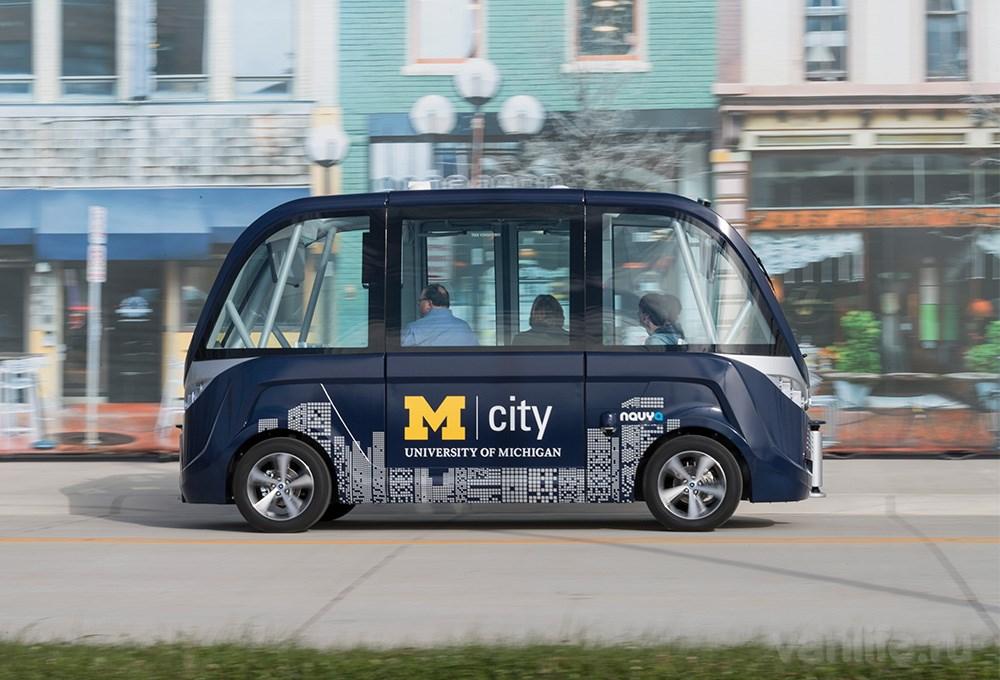 Студентов из университетского городка Мичиган будет перевозить автономный шаттл