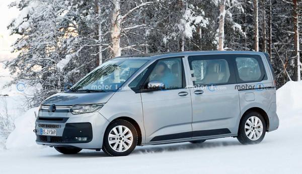 На дорогах был замечен новый Volkswagen Multivan T7