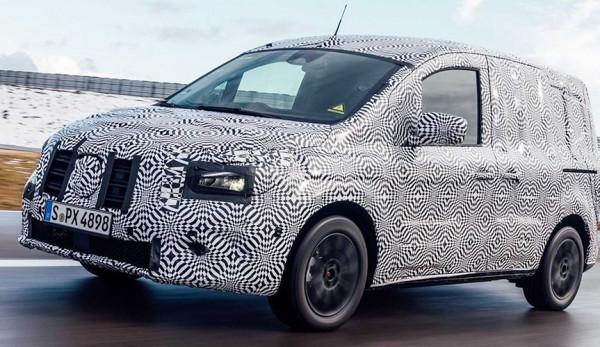 В сети появились новые фото электрофургона Mercedes-Benz eCitan