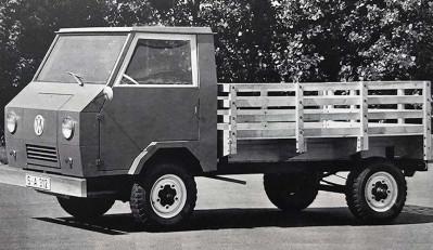 Редкий грузовик Volkswagen Basis-Transporter