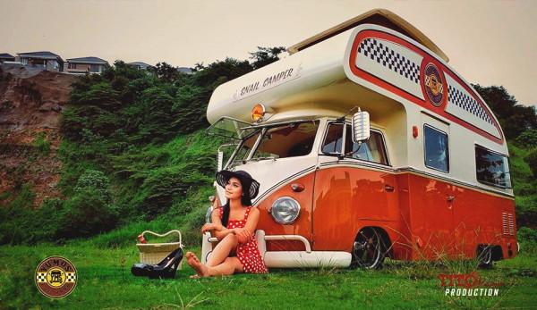 Роскошный кемпер-улитка на базе Volkswagen Transporter