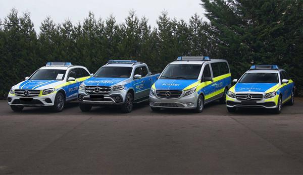 Автопарк немецкой службы полиции пополнился новыми автомобилями Mercedes-Benz