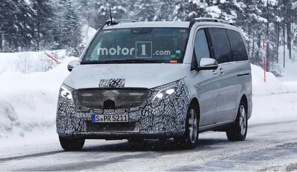Закамуфлированный Mercedes-Benz V-Class был замечен во время проведения испытаний