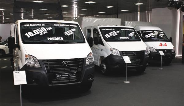 «Группа ГАЗ» представила легкие коммерческие автомобили на выставке в Сербии