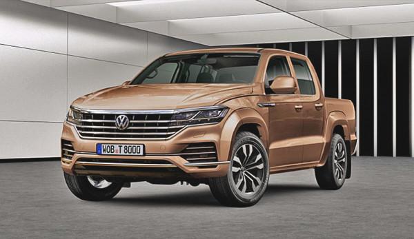Появились первые изображения обновлённого пикапа Volkswagen Amarok