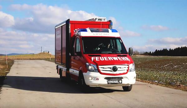 Австрийская компания создала пожарный электромобиль на базе Mercedes-Benz Sprinter