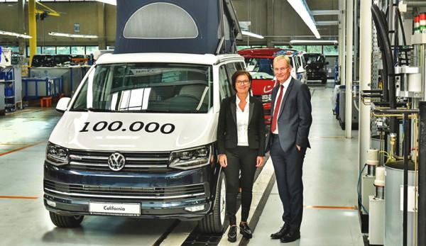 На заводе в Ганновере с конвейера сошла юбилейная модель Volkswagen California