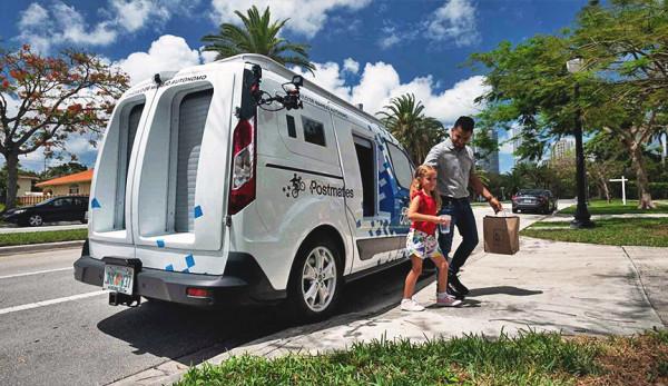 Компания Ford представила ненастоящий «автономный» фургон Transit Connect для доставки еды