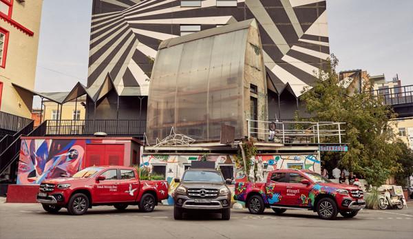 Искусство на дорогах Москвы: Mercedes-Benz Vans создает яркие мобильные арт-объекты