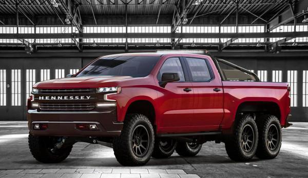 Компания Hennessey Performance создала 6-колёсный пикап Chevrolet Silverado