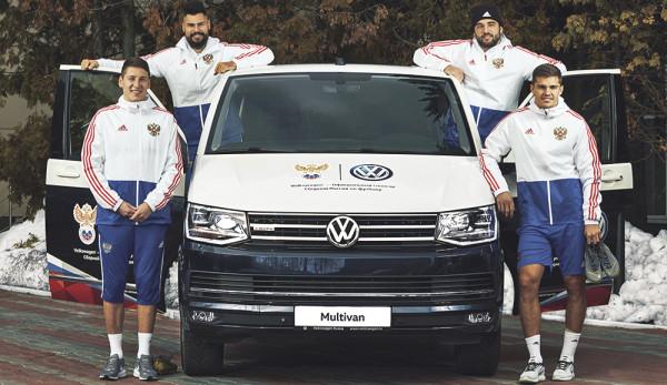 Volkswagen – официальный автомобиль Сборной России по футболу