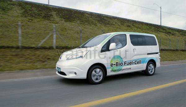 Концепт от компании Nissan, работающий на твердооксидных топливных элементах